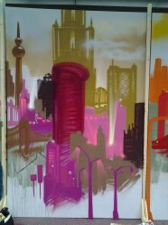 Skyline beige, 200 x 300 cm, 2013, private property