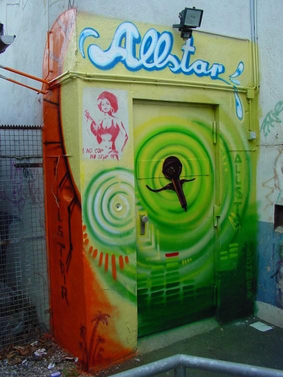 Eingangsbereich/Entree Allstar Studio Jam El Mar & Marc Spoon (Rolf Ellmer & Markus Löffel), Frankfurt am Main 2004