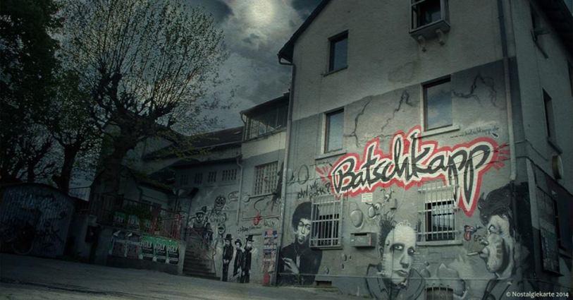 Die legendäre Fassade der Batschkapp von 2004. Foto Gerald Hensel