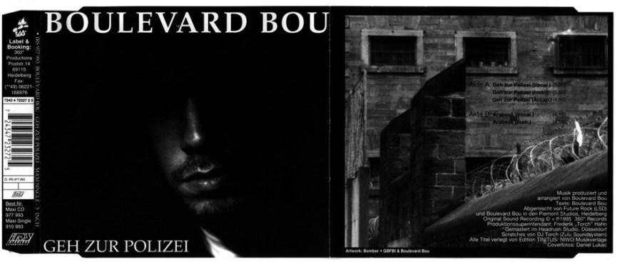 CD Inlay Cover Boulevard Bou - Geh zur Polizei 1995