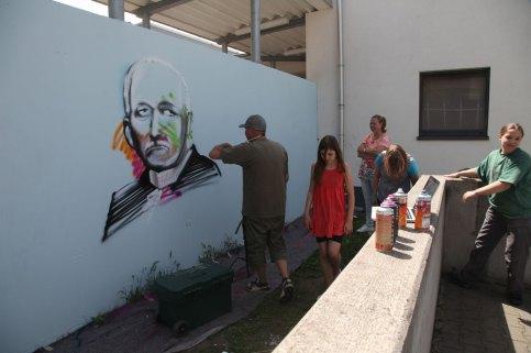 CvW-Schule 2014, Carl von Weinberg Portrait Carl von Weinberg Schule, Niederrad 2014