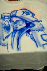 Street Art airbrushing and customizing for 37 grad and the client Canon photoprinter at Saturn Hansa Munich 2008