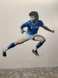 Diego Maradona. Maße ca. 3,5 m Höhe x 3, 2 m, Bad Nauheim 2021.