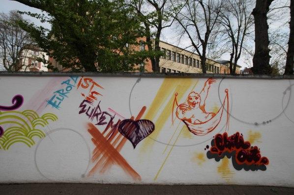 Europa-ist-eurem-Herz Textorschule Europaschule Fassade Socialday 2019