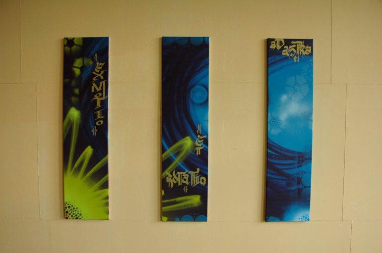 Triptychon ExMotoEtRotatioAdAstra Route der Industriekultur Phrix Okriftel 2012