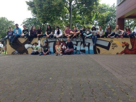 Helene Lange Schule Höchst Graffiti Workshop 2015