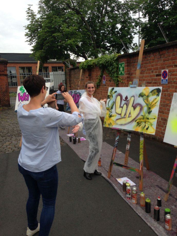Graffiti Urban Art Spray Workshop Patrizia AG, Klassikstadt Frankfurt, 2019