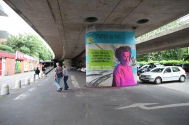 Ich fühle mich in der ganzen Welt zuhause, wo es Wolken und Vögel und Menschentränen gibt … Rosa Luxemburg Brücke Ginnheim 2016
