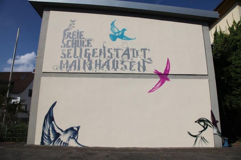 Fassade Freie Schule Seligenstadt, 2014