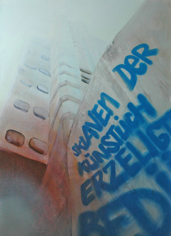 Sklaven der künstlich erzeugten Bedürfnisse. Kooperation Natalie Goller/Bomber, Galerie Jens Fehring, 2009