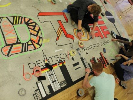 Tape Art Workshop DTJ Deutsche Turner Jugend 2014