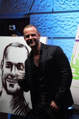 Dennis Uitz & his quick spraypainted portrait, Wiesbaden 2013