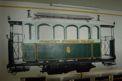 Verkehrsmuseum Frankfurt. Historische Straßenbahn. Vereinsheim ehemaliger Betriebshof Eckenheim, Schwabstraße 18
