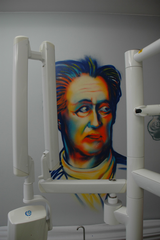 Goethe Themenmotive Praxisräume Zahnarztpraxis Dr. Sandberg, Frankfurt