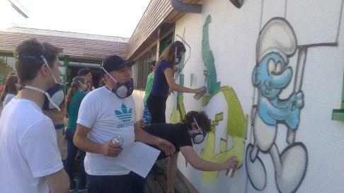 Graffiti Art Workshop an der IGS Oberzent Schule Beerfelden, zusammen mit WOW123, 2013