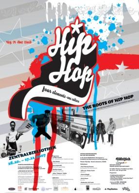 Hip Hop 4 elements-one culture/ Fotos der Anfänge der Hip Hop Kultur in Frankfurt und New York in der Neuen Frankfurter Stadtbibliothek, DIN A 2 DIN A2 artwork 2007