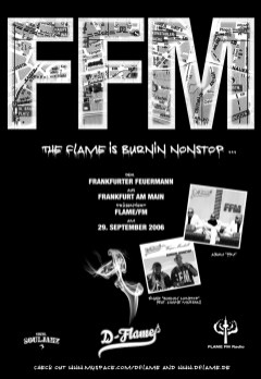 DIN A 2 Poster D-Flame 2006