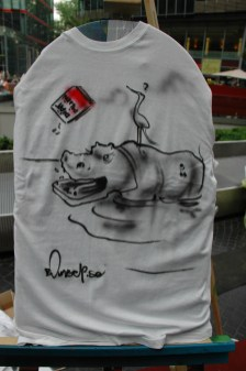 Rhino. Live Street Art Airbrushing für SEAT © SONY Center Potsdamer Platz, 2012