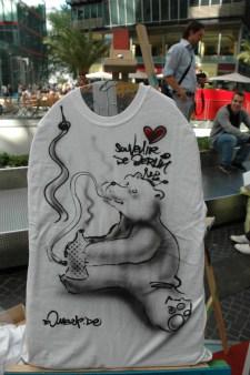 souvenir de berlin. Live Street Art Airbrushing für SEAT © SONY Center Potsdamer Platz, 2012
