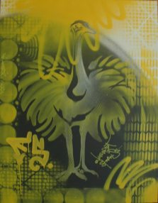 Engelbert Strauss Stencil Artwork on canvas, 2011