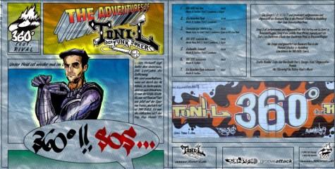 Toni L - EP 360 Grad!! SOS Vinyl/CD cover artwork 2004