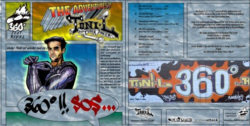 Toni L - EP 360 Grad!! SOS Vinyl/CD cover artwork 1994