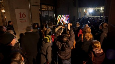 Audience crowd, Besucher Luminale 2016