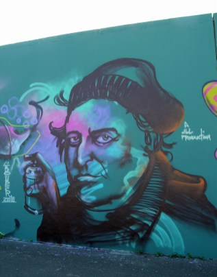 J.W.v.Goethe sprays Graffiti art 2015