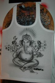 Ganesha on shirt, 2010