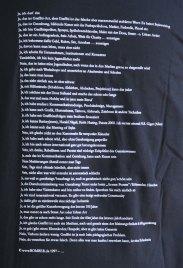 Black/schwarz. Bomber wear shirts Text backside