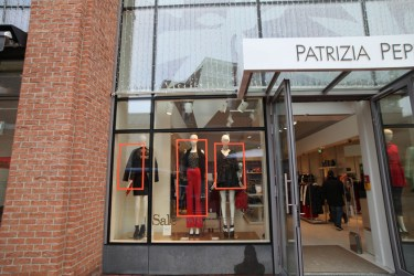 PATRIZIA PEPE store Ingolstadt Village Tape Art 2019