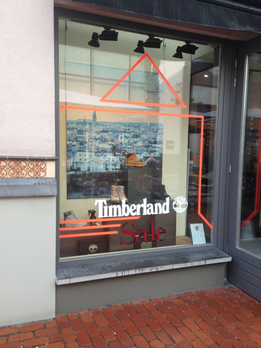 Timberland store Ingolstadt Village Tape Art 2019
