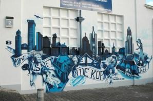 Skyline Frankfurt + Frankfurt topics/Motive, Hausmeister Müller, Eschersheim, 2010.