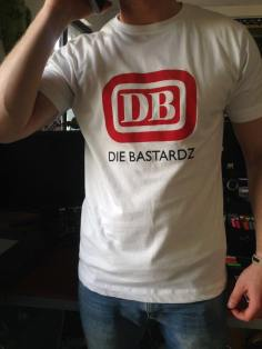 Model Kersten wears DIE BASTARDZ T-Shirt white