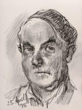 Ludwig Meidner Selbstportrait 1955