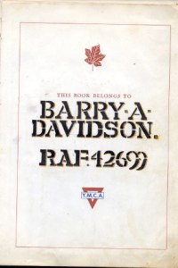 Barry Davidson's P.O.W. Logbook