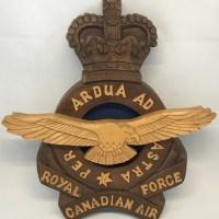 WOOD CARVING – RCAF Crest