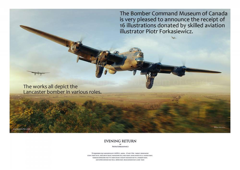 Lancasters Return To Base in the Morning