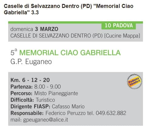 Memorial Ciao Gabriella 3.3