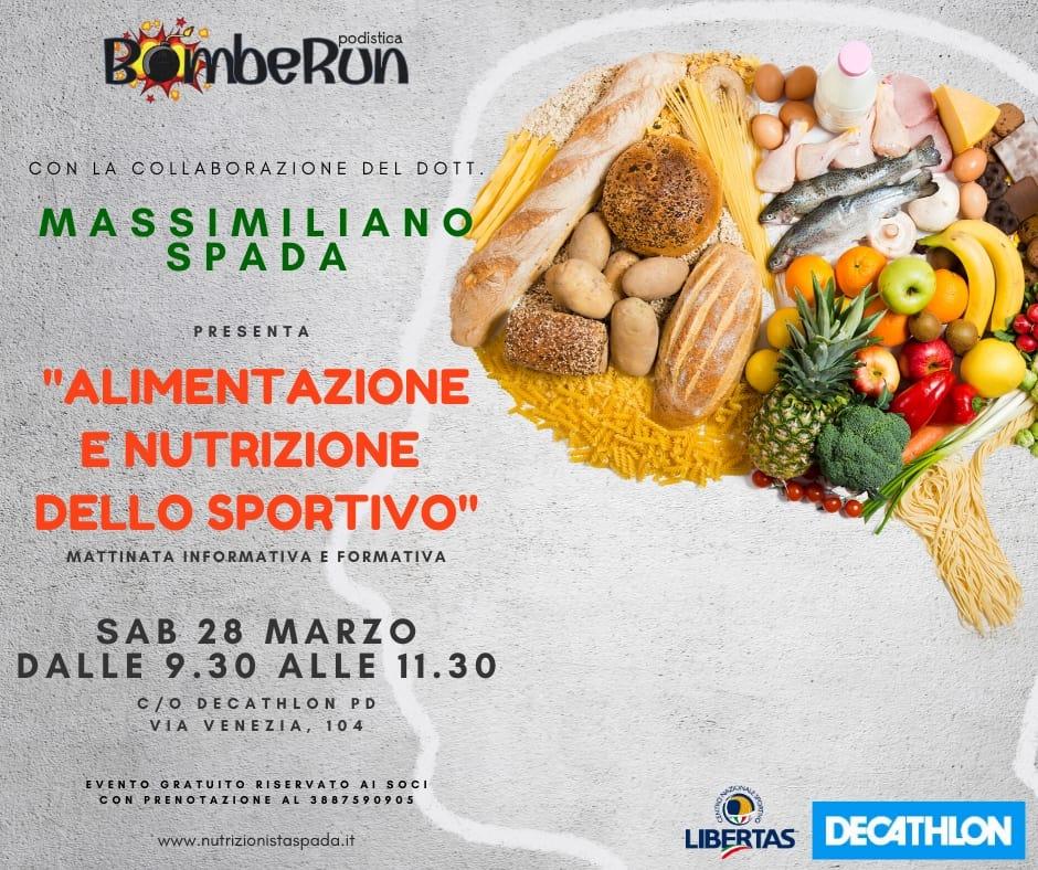 """Evento """"Alimentazione e nutrizione dello Sportivo"""""""