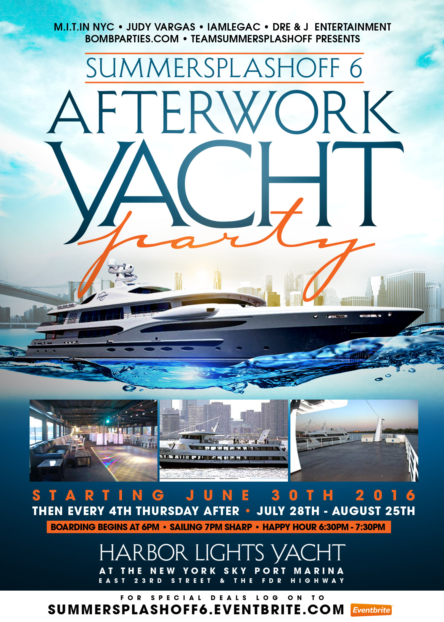 Summer Splashoff 6 After Work Yacht Party The Harbor