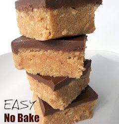 No bake peanut butter and chocolate bars