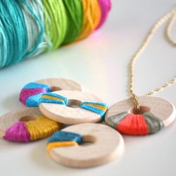 Wooden Washer Necklaces