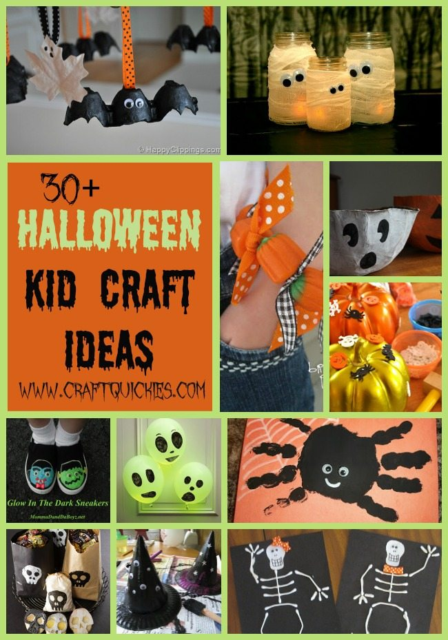 More than thirty fun and festive Halloween craft ideas to make with your little ones! A perfect way to get into the holiday spirit as a family!