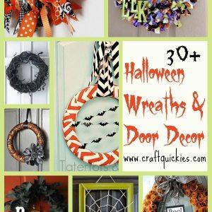 30+ fabulous Halloween wreath and door decor ideas!