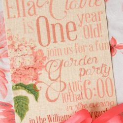 Beautiful Invitation Printed on Fabric