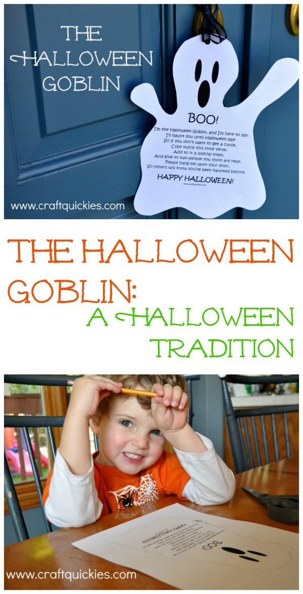 The Halloween Goblin.....we've done this for years in our neighbourhood! Kids loved it!