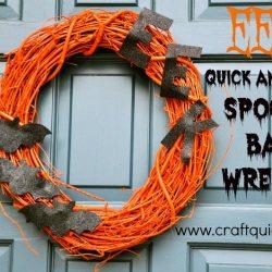 EEK! Quick and Easy Spooky Bat Wreath