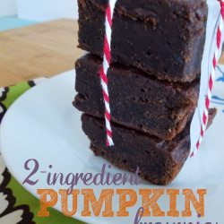 Two Ingredient Pumpkin Brownies