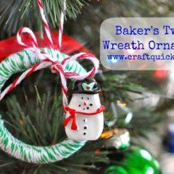 Baker's Twine Wreath Ornament Tutorial